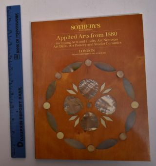 Applied Arts from 1881 including Arts and Crafts, Art Nouveau, Art Deco, Art Pottery and Studio...
