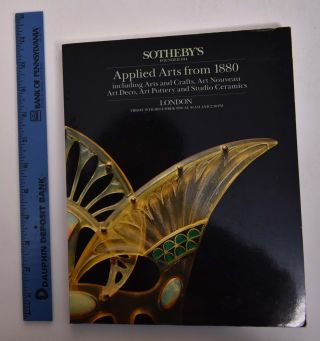 Applied Arts from 1880 Including Arts and Crafts, Art Nouveau, Art Deco, Art Pottery and Studio...