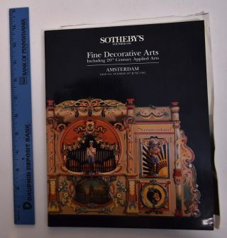 Fine Decorative Arts Including 20th Century Applied Arts. Sotheby's