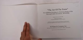"""""""The Art of the Frame"""": American Frames of the Arts and Crafts Period"""