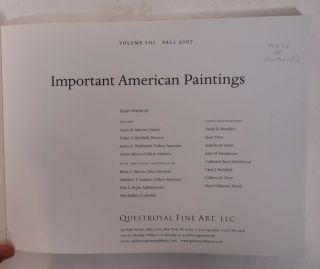 Important American Paintings (Volume VI Fall 2007)