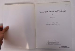 Important American Paintings (Volume I, Fall 2000)