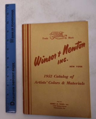 Winsor & Newton Inc. 1952 Catalog of Quality Merchandise for the Artist, Designer, Architect,...