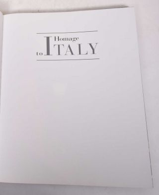 Homage to Italy