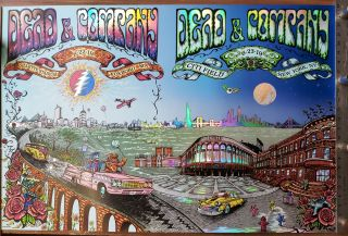 Dead and Company - 2019 - Foxboro and Citi Field Double Foil Poster. Dubois