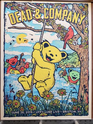 Dead and Company - 2019 - Tour Poster - Bristow. GIGART, Gregg Gordon