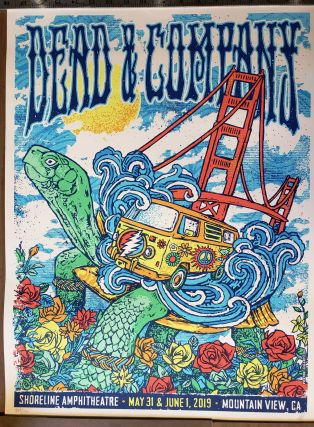 Dead and Company - 2019 - Tour Poster - Shoreline Amphitheater. GIGART, Gregg Gordon