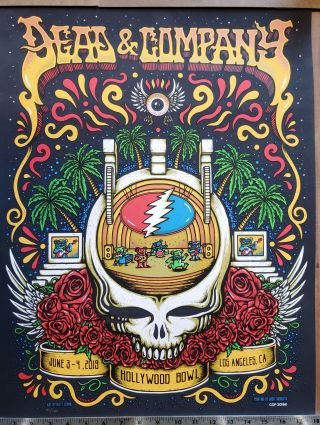 Dead and Company - 2019 - Tour Poster - Hollywood Bowl. Matt Leunig