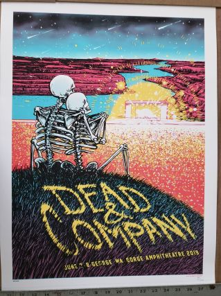 Dead and Company - 2019 - Tour Poster - Gorge Amphitheater. Matt Leunig