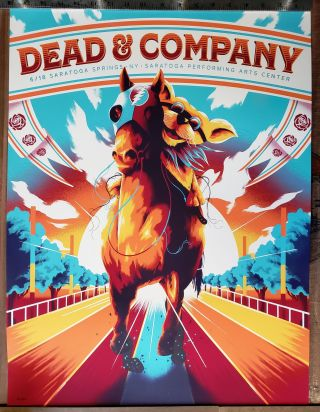 Dead and Company - 2019 - Tour Poster - SPAC (Saratoga Performing Arts Center). Unknown artist