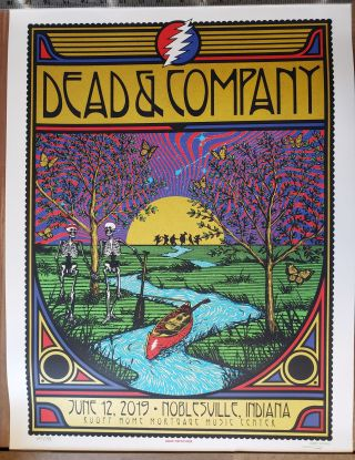 Dead and Company - 2019 - Tour Poster - Noblesville, Indian (Ruoff Home Mortgage Center). Subject...