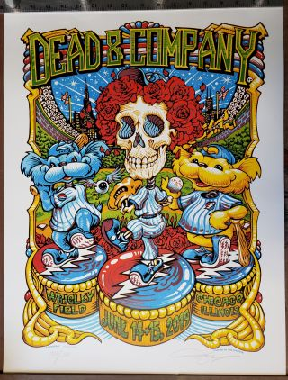 Dead and Company - 2019 - Tour Poster - Wrigley Field. A. J. Masthay