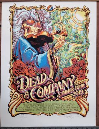 Dead and Company - 2019 - Tour Poster - Entire Tour. A. J. Masthay