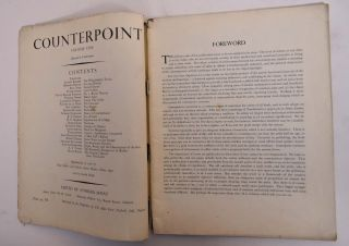 Counterpoint, Volume One. George Barker, Peter Goffin, Paul Nash, Bernard Denvir
