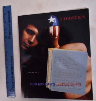 Don McLean's American Pie: The Original Manuscript. Christie's