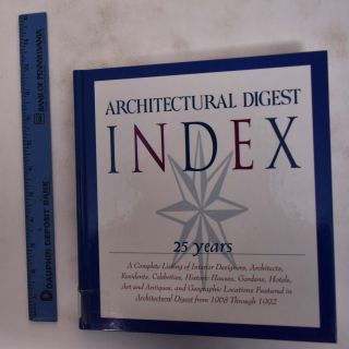 Architectural Digest Index: 25 years. Architectural Digest Publishing Corp