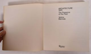 Architecture, 1980: The Presence of the Past, Venice Biennale