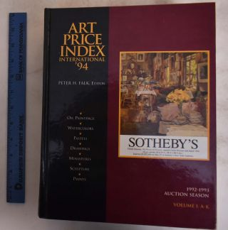 Art Price Index International '94: 1992-1993 Auction Seasion, Volume I A-K. Peter H. Falk