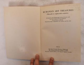 Rumanian Art Treasures: Fifteenth to Eighteenth Centuries. Sorin Ulea, Maria Ana Musicescu
