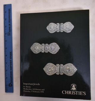 Christie's Important Jewels; St. Moritz, 1994. Christie's International Group