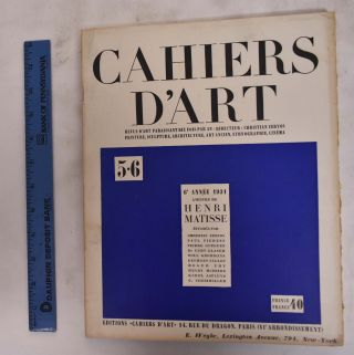 Cahiers D'Art; No. 5-6, 1931. Christian Zervos