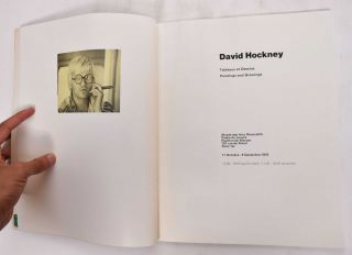 David Hockney: Tableaux et Dessins, Paintings and Drawings. Stephen Spender