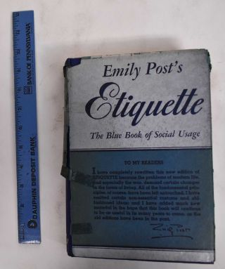 Etiquette: The Blue Book of Social Usage. Emily Post
