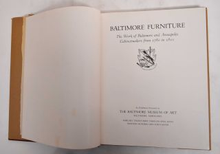 Baltimore furniture; the work of Baltimore and Annapolis cabinetmakers from 1760 to 1810. Adelyn...