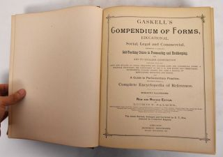 Gaskell's American manual and compendium of forms, educational, social, legal and commercial....