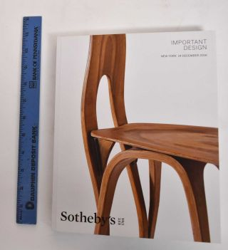 Important design - Sotheby's New York. Date of sale: December 14, 2016. Sotheby's, Firm