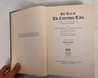 The text of the Canterbury tales, Studied on the basis of all known manuscripts (8 volumes)