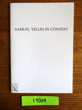 Samuel Yellin in Context. Richard J. Wattenmaker