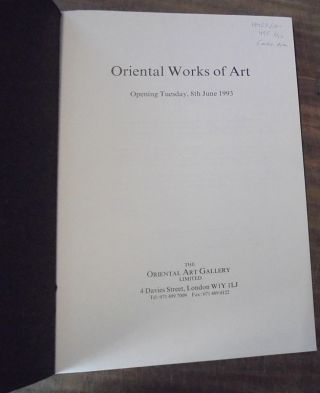 Oriental Works of Art