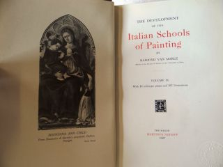 THE DEVELOPMENT OF THE ITALIAN SCHOOLS OF PAINTING (19 Volumes)