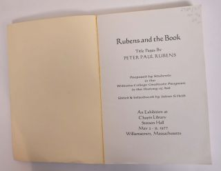 Rubens and the Book: Title Pages by Peter Paul Rubens