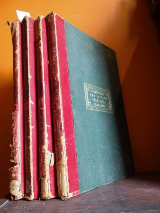 Studies from Old English Mansions: Their Furniture, Gold and Silver Plate etc. (Complete 4 volume...