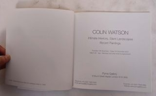 Colin Watson: Intimate Interiors, Silent Landscapes, Recent Paintings