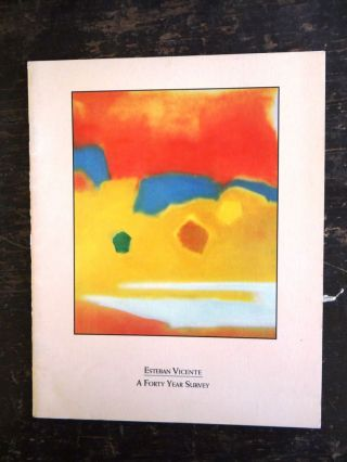 Esteban Vicente: A Forty Year Survey. NY: Guild Hall Museum East Hampton, 1992, April 25 to June 7